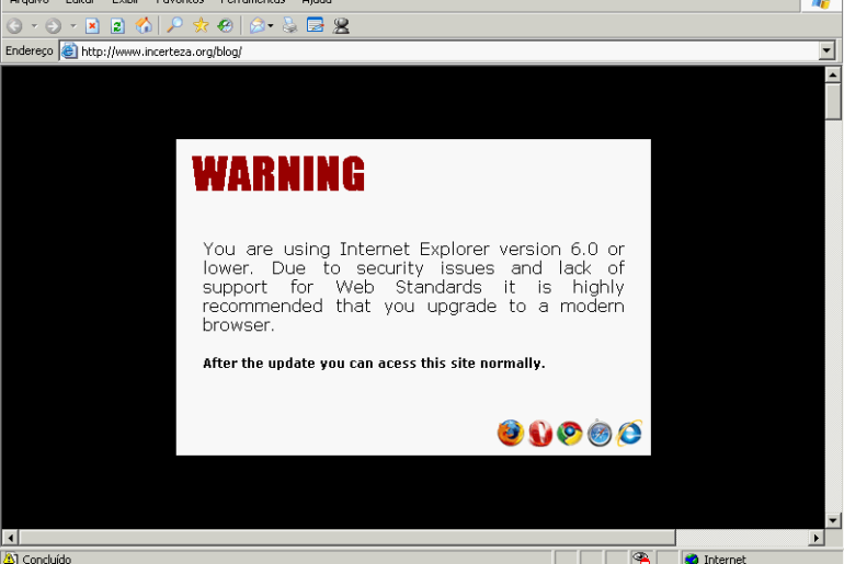 Shockingly Big IE6 Warning