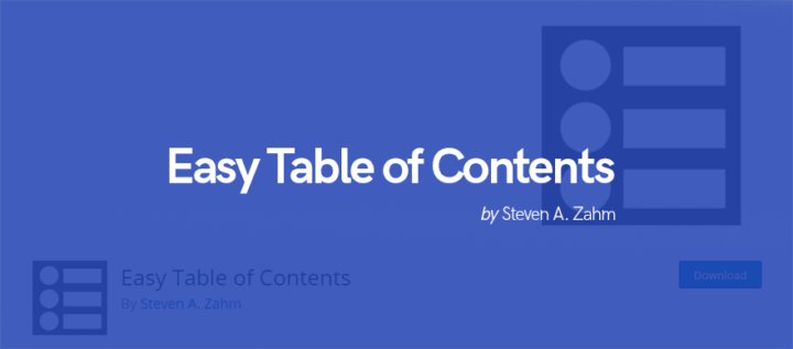 Плагін таблиць WordPress - Easy Table of Contents