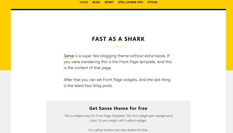 Нові шаблони для WordPress - Sanse