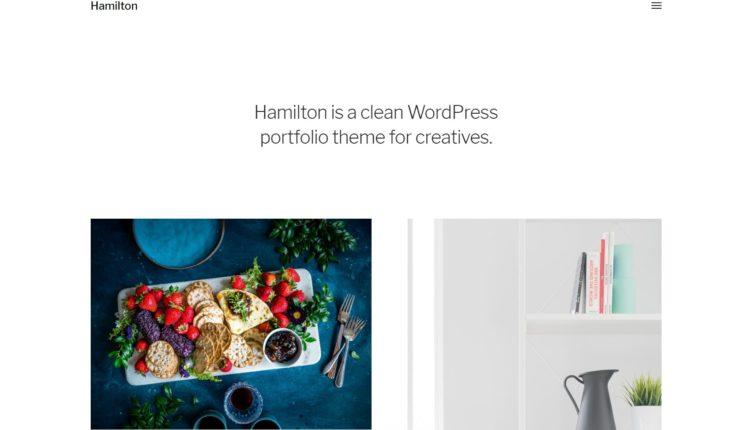 Нові шаблони для WordPress - Hamilton
